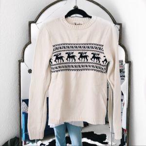 Knitz for love and lemons deer Christmas sweater